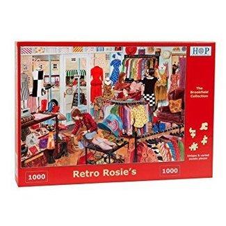 The House of Puzzles Retro Rosie's 1000 Puzzle Pieces
