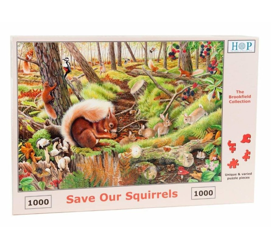 Save our Squirrels Puzzel 1000 Stukjes