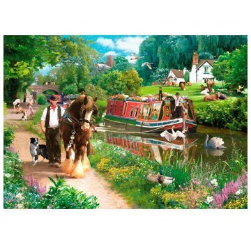 The House of Puzzles Tow Path 1000 Puzzle Pieces