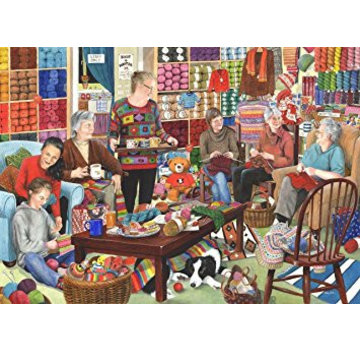 The House of Puzzles Knit and Natter 1000 Puzzle Pieces