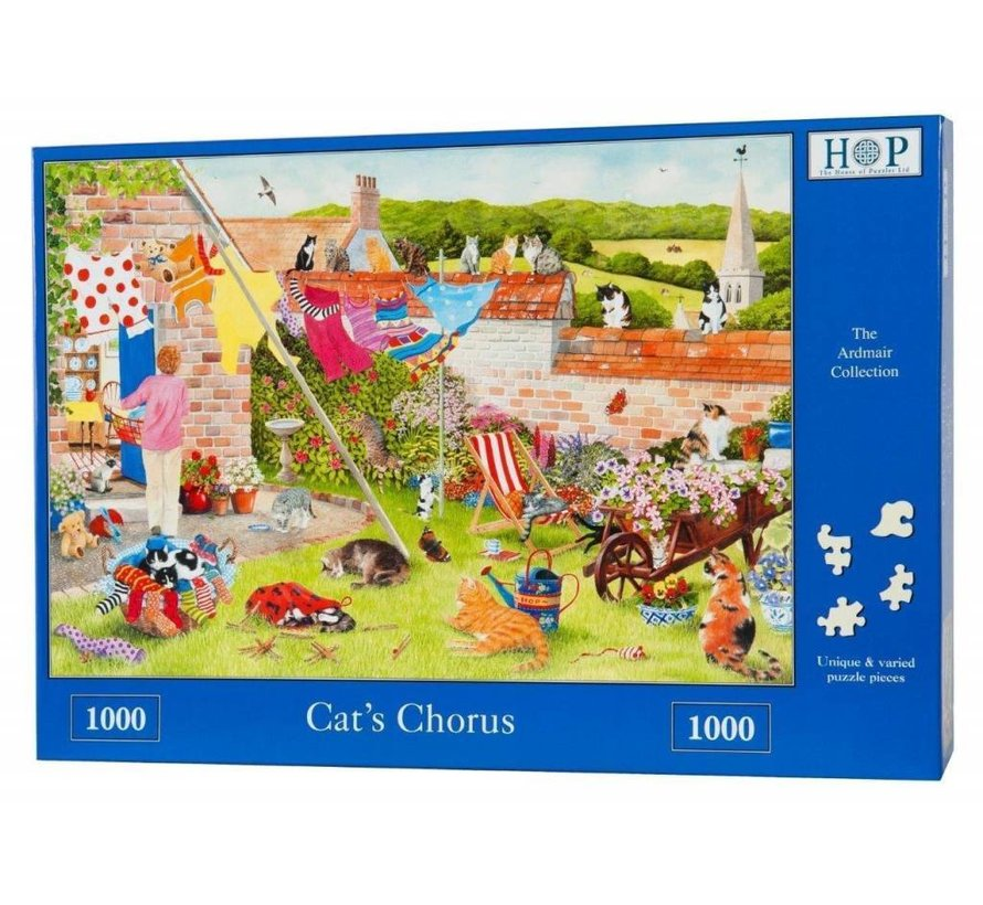 Cat's Chorus 1000 Puzzle Pieces