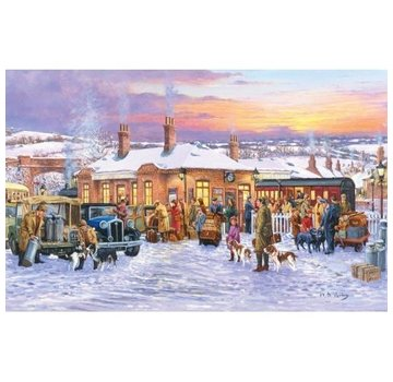 The House of Puzzles Teatime Train Puzzle 1000 Pieces