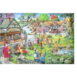 The House of Puzzles 1000 Spring Green Puzzle Pieces