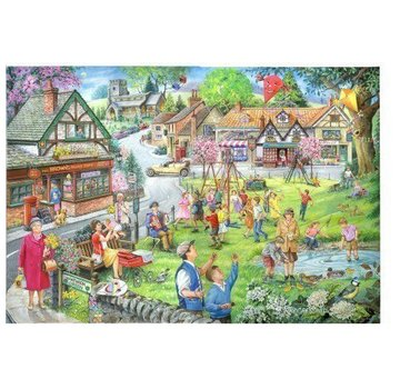 The House of Puzzles 1000 Pièces Puzzle Spring Green
