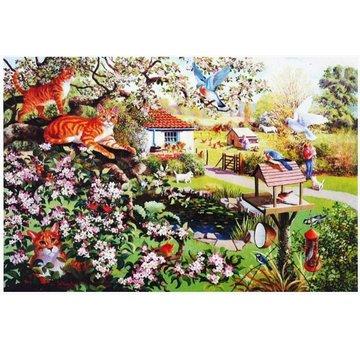 The House of Puzzles Garten-Uhr 1000 Puzzle Pieces