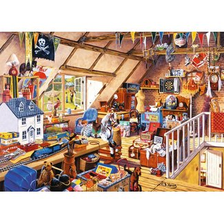 The House of Puzzles Grandma's Attic 1000 Puzzle Pieces