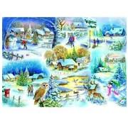 The House of Puzzles Let It Snow 1000 Puzzle Pieces