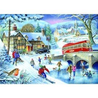 The House of Puzzles 1000 Jeux d'hiver Puzzle Pieces