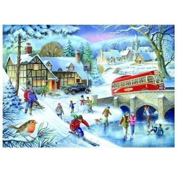 The House of Puzzles 1000 Winterspiele Puzzle Pieces