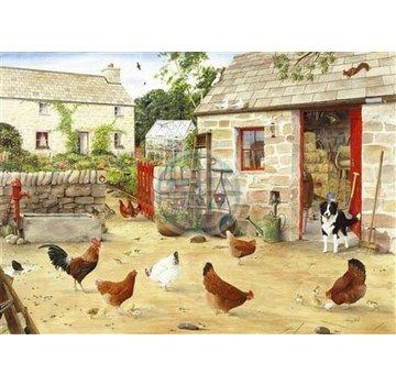 The House of Puzzles Happy Hens Puzzel 1000 Stukjes