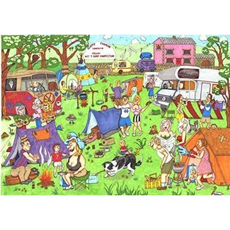 The House of Puzzles Happy Campers 1000 Puzzle Pieces