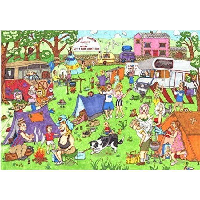 The House of Puzzles Happy Campers Puzzel 1000 Stukjes