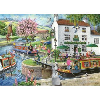 The House of Puzzles No.6 - By the Canal 1000 Puzzle Pieces Find the Differences