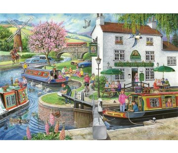 The House of Puzzles No.6 - By the Canal Puzzel 1000 Stukjes Find the Differences