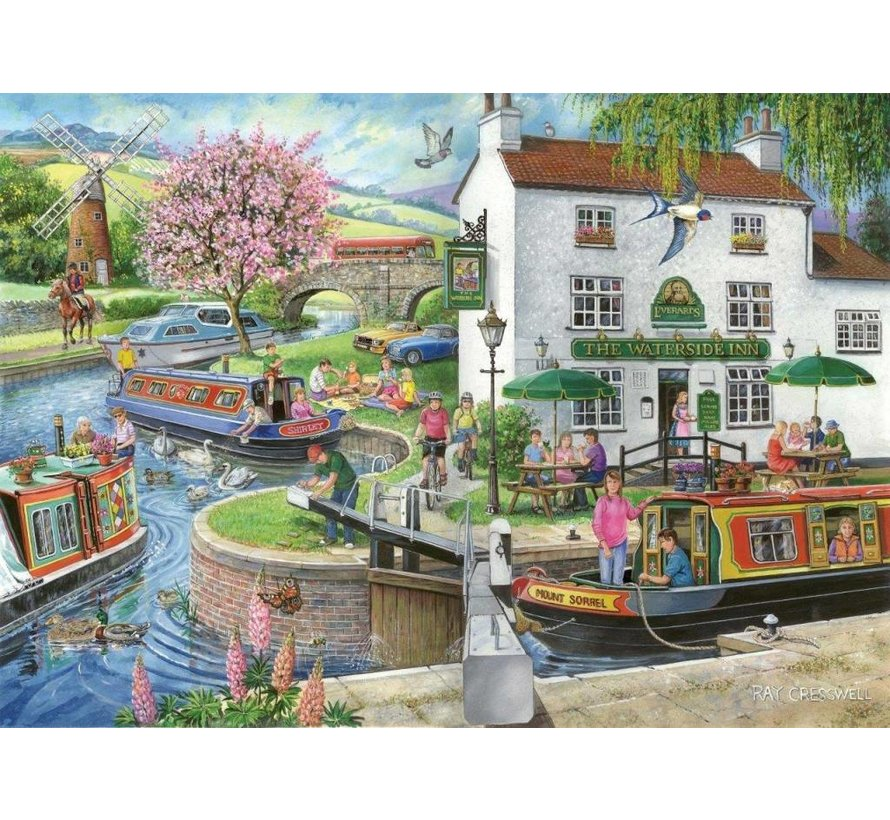 No.6 - By the Canal Puzzel 1000 Stukjes