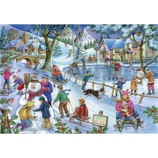 The House of Puzzles No.9 - Frosty and Friends Puzzel 1000 Stukjes