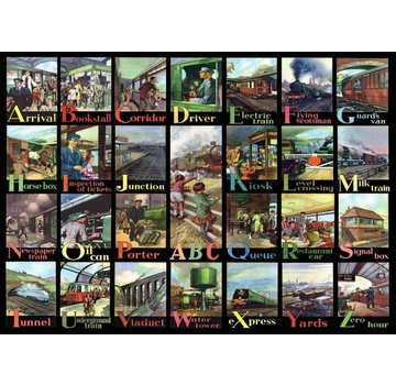 The House of Puzzles A to Z of Rail Puzzel 500 Stukjes XL