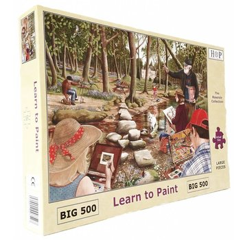 The House of Puzzles Learn To Paint Puzzel 500 Stukjes XL