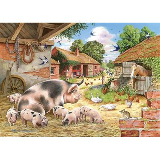 The House of Puzzles Poppy's Piglets Puzzel 500 Stukjes XL