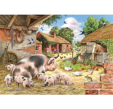 The House of Puzzles Poppy's Piglets Puzzel 500 Stukjes XL