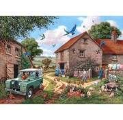 The House of Puzzles Femme Puzzle Pieces XL Farmer 500