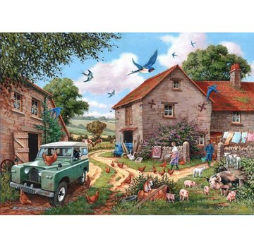 The House of Puzzles Farmer's Wife Puzzle Pieces XL 500
