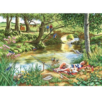 The House of Puzzles Gone Fishing Puzzle Pieces XL 500