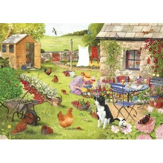 The House of Puzzles Grandma's Garden Puzzle Pieces XL 500
