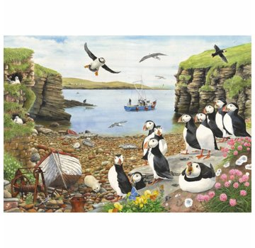 The House of Puzzles Puffin Parade Puzzel 500 Stukjes XL