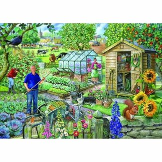 The House of Puzzles At The Allotment Puzzel 500 Stukjes XL
