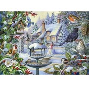 The House of Puzzles Winter Birds Puzzle Pieces XL 500