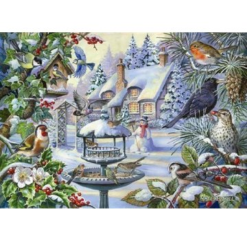 The House of Puzzles Winter-Vogel-Puzzle Stück XL 500