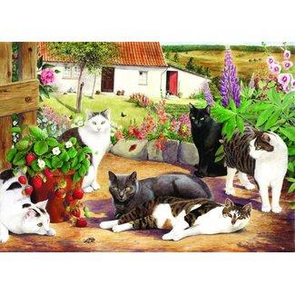 The House of Puzzles Cool Cats Puzzel 500 Stukjes XL