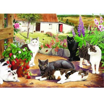 The House of Puzzles Cool Cats Puzzel 500 Stukjes XL