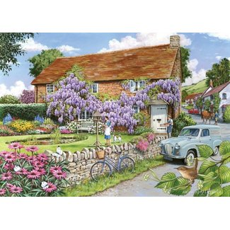 The House of Puzzles Wisteria Cottage Puzzle Stück XL 250