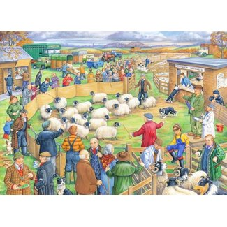 The House of Puzzles Sheep Sale Puzzel 250 Stukjes XL