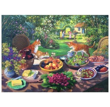 The House of Puzzles Garten-Party-Puzzle Stück XL 250