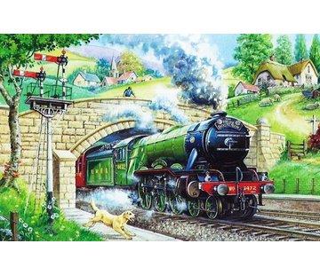 The House of Puzzles Train Spotting Puzzel 250 Stukjes XL