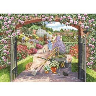 The House of Puzzles Walled Garden Puzzel 500 Stukjes