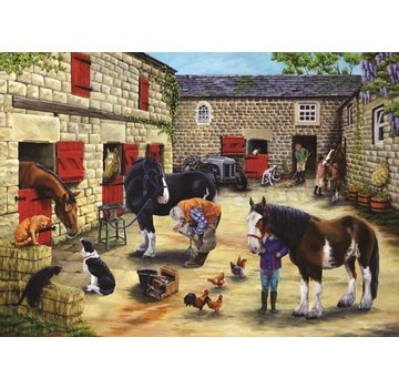 The House of Puzzles Farrier's Visit Puzzel 500 Stukjes