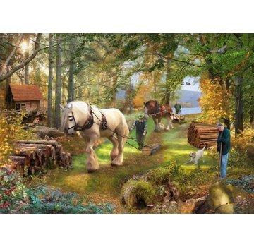 The House of Puzzles Horse Power Puzzel 500 Stukjes