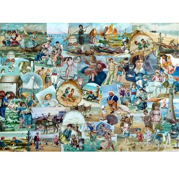 The House of Puzzles Beside The Seaside Puzzel 500 Stukjes
