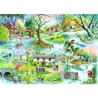 The House of Puzzles All Seasons Puzzel 500 Stukjes