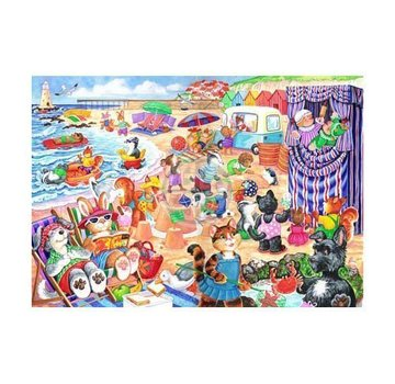The House of Puzzles At The Seaside 80 Puzzle Pieces XL