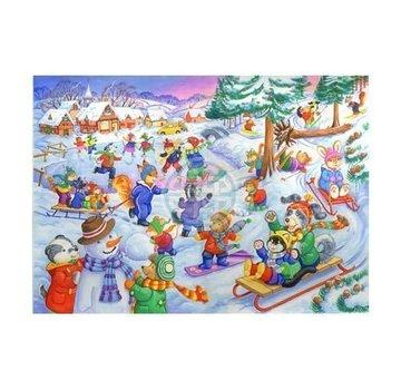 The House of Puzzles Fun dans la neige 80 Pièces Puzzle