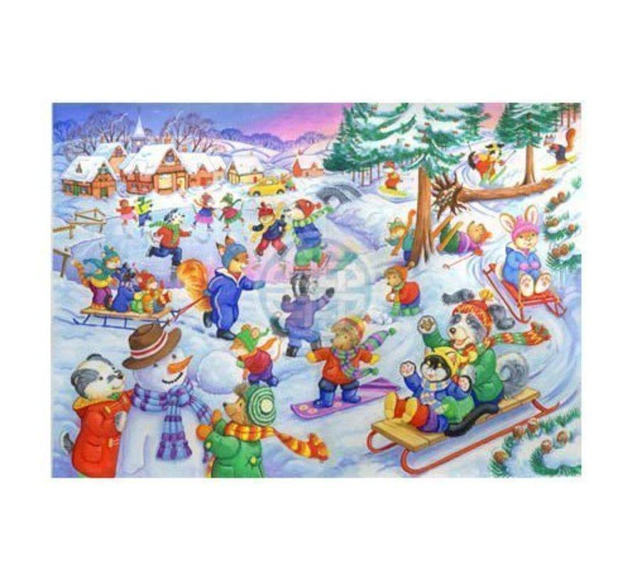 Fun In The Snow Puzzel 80 Stukjes