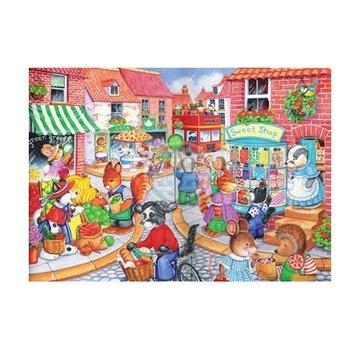 The House of Puzzles Dans la ville Puzzle 80 pièces