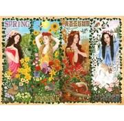 The House of Puzzles Four Seasons Puzzel 1000 stukjes