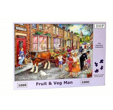 The House of Puzzles Obst & Gemüse Man Puzzle 1000 Stück