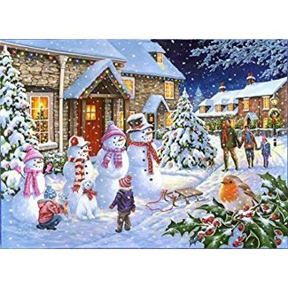 The House of Puzzles Snow Family Puzzle 1000 pieces